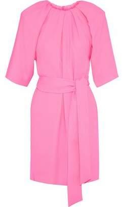 Maison Margiela Tie-Front Gathered Crepe Mini Dress