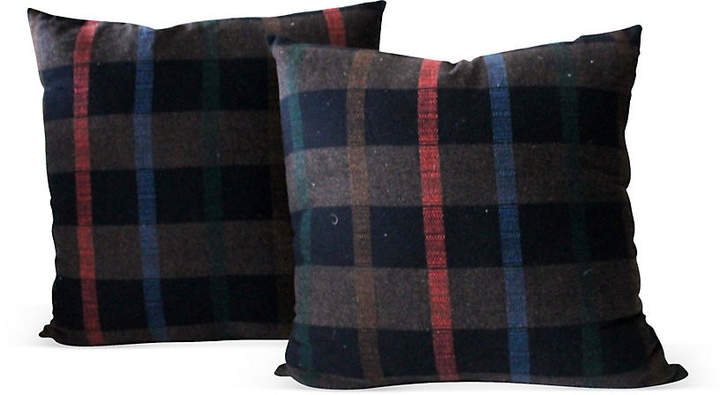 Plaid Blanket Pillows
