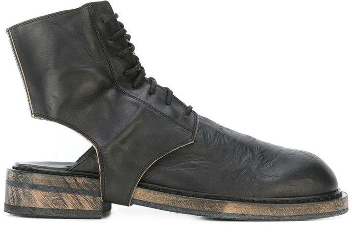 Ann DemeulemeesterAnn Demeulemeester cut-out ankle boots