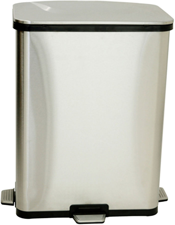 iTouchless 13-Gal. Stainless Steel Step-Sensor Trash Can