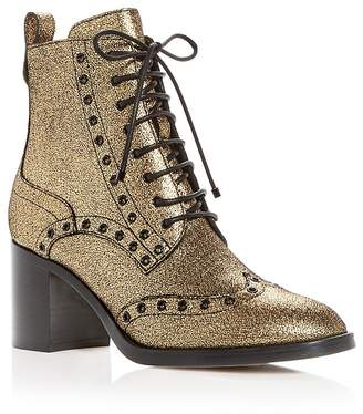 Jimmy Choo Women's Hanah 65 Metallic Lace Up Booties