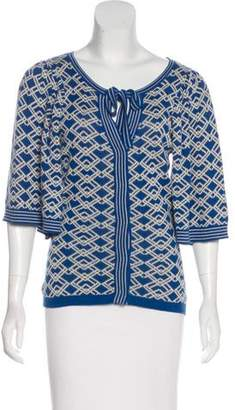 Tracy Reese Cotton-Blend Printed Cardigan