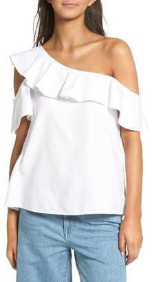 Women's Madewell One-Shoulder Cotton Top $59.50 thestylecure.com