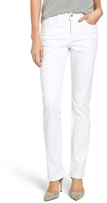 Petite Women's Nydj Marilyn Stretch Straight Leg Jeans $114 thestylecure.com