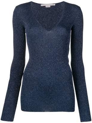 Stella McCartney glitter v-neck sweater