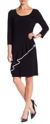 TASH + SOPHIE Cascading Ruffle Jersey Dress