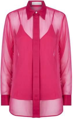 Victoria Beckham Sheer Long-Sleeve Shirt