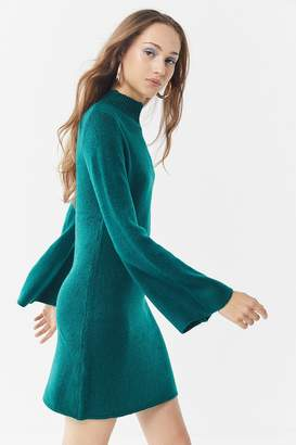 Bardot Tash Bell-Sleeve Sweater Dress