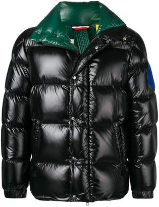 Moncler contrast colour padded coat