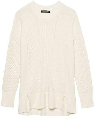 Banana Republic Petite Cable-Knit Sweater Tunic