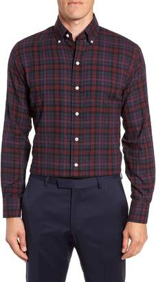 Ledbury Torello Trim Fit Plaid Dress Shirt