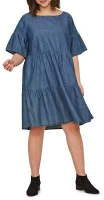 Junarose Plus Allegra Short-Sleeve Above-Knee Dress