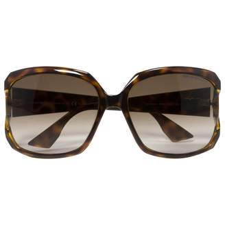 Emporio Armani Brown Plastic Sunglasses