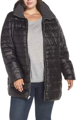 Andrew Marc Removable Hood Puffer Coat