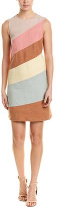 Valentino Color-Blocked A-Line Dress