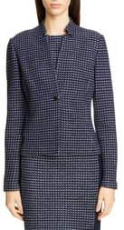 St. John Dotted Inlay Tweed Knit Jacket
