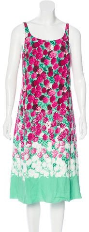 Marc JacobsMarc Jacobs Floral Print Midi Dress