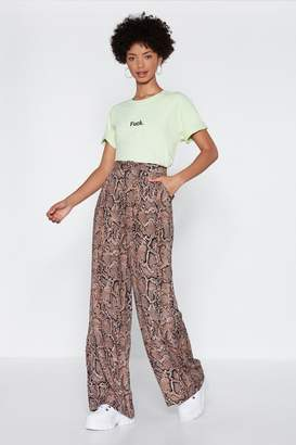 Nasty Gal Fang You Very Much Snake Pants