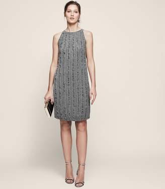 Reiss Ethol Metallic Ruffle Dress