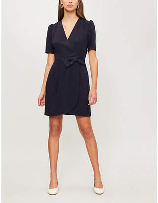 Claudie Pierlot Rina bow-waist crepe dress