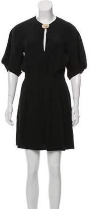 Chloé Short Sleeve Mini Dress