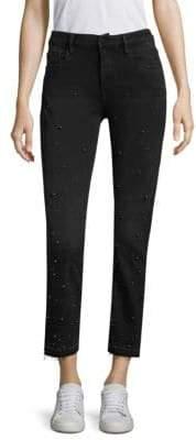 Frame Le Crop Mini Boot Raw Hem Pearl Jeans