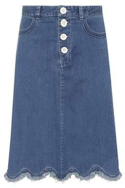 See by Chloe Scalloped denim skirt
