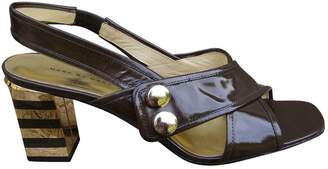 Marc by Marc Jacobs Brown Patent leather Sandals