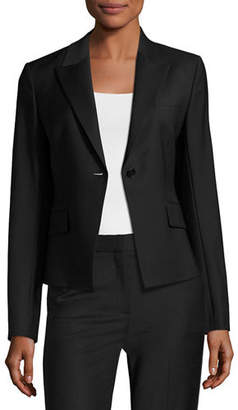 Theory Brince B Continuous Single-Button Blazer