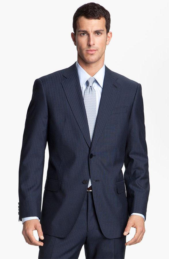 Armani Collezioni 'Executive' Trim Fit Wool & Silk Suit