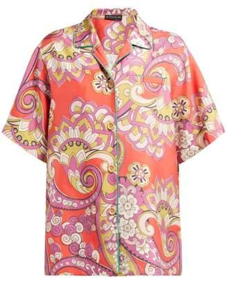 1b103eb969890 Etro Paisley Print Oversized Silk Shirt - Womens - Red Multi