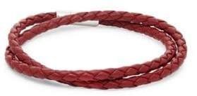 Tateossian Scoubidou Double Wrap Leather Bracelet