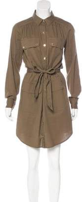 Trina Turk Belted Swiss Dot Shirtdress