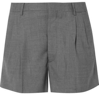 Miu Miu Pleated Wool-piqué Shorts