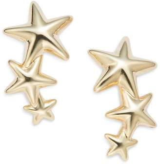 Saks Fifth Avenue Women's 14K Yellow Gold Triple Star Climber Earrings