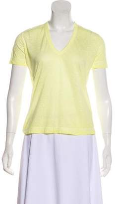 Zadig & Voltaire Semi-Sheer V-Neck T-Shirt