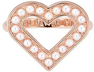Ted Baker Esztel Faux Pearl Enchanted Heart Ring - Size S-M