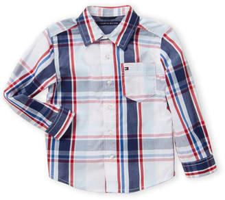 Tommy Hilfiger Toddler Boys) Corey Long Sleeve Plaid Woven Shirt