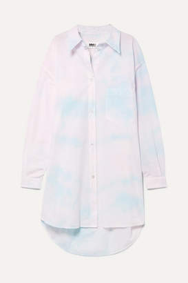 MM6 MAISON MARGIELA Oversized Tie-dye Cotton-poplin Dress - Pink