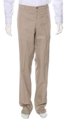 Brunello Cucinelli Flat Front Woven Pants