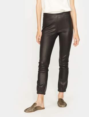 Halston Stretch Leather Leggings