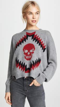 360 Sweater Cashmere Geometric Skull Sweater