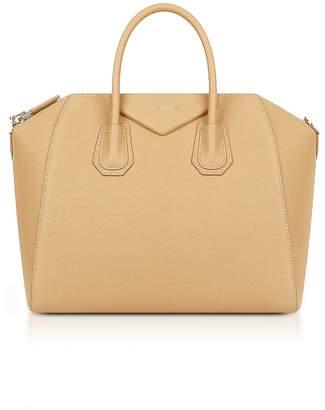 Givenchy Light Beige Leather Medium Antigona Tote Bag