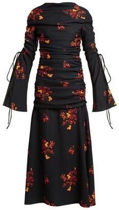 Ellery Above Board Ruched Maxi Dress - Womens - Black Multi
