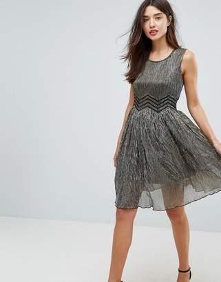 Amy Lynn Metallic Skater Dress