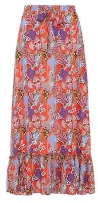 Etro Printed cotton maxi skirt