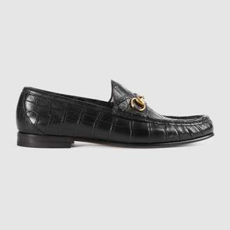 Gucci 1953 Horsebit crocodile loafer