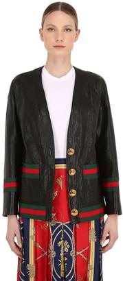 Gucci Webbing Leather Jacket