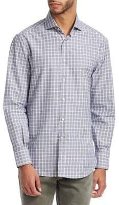 Brunello Cucinelli Plaid Cotton Button-Down Shirt