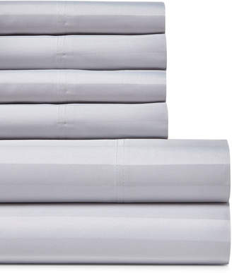 Luxury Estate 6-Piece Woven Stripe 1200 Thread Count Queen Sheet Set